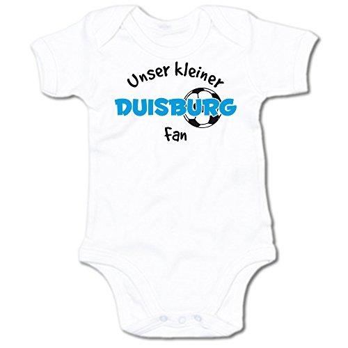 G-graphics Unser Kleiner Duisburg Fan Baby-Body Suite Strampler 250.0497 (3-6 Monate, weiß)