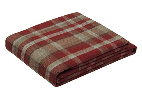 McAlister Textiles Heritage   Überwurf im Tartan-Muster kariert 200cm x 254cm in Rot   Decke für Sofa, Bett, Sessel, Picknick, Schottenkaro