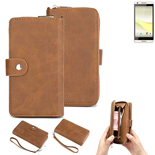 K-S-Trade Handy-Schutz-Hülle Für HTC Desire 650 Portemonnee Tasche Wallet-Hülle Bookstyle-Etui Braun (1x)