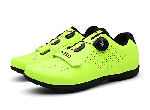 Govoland Men's And Women's Road Bike Shoes Are Compatible With Mountain Bike Shoes Anti-skid Plates And Fast-rotating Buckles(43, Green)