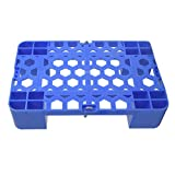 WANGF Las Paletas de Plástico Se Pueden Empalmar Diseño, Paletas Azules Diseño de Panal, Ventilación, Estante a Prueba de Humedad de Cuatro Patas, Adecuado para Supermercados Y Hogares, Almacén