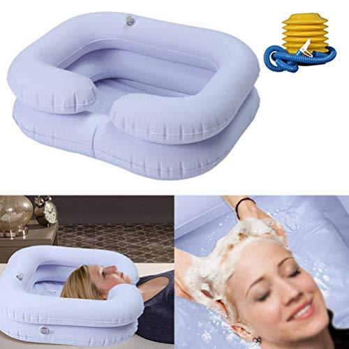 SJWR Opblaasbare zwemhulp voor de wastafel – was het haar in bed met een opblaasbare voetpomp