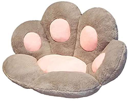 UMBRANDED Bonito cojín de asiento con patas de gato, cojín para silla de escritorio, suave y grueso, para sillas de oficina, en casa o en el coche, 31,5 x 27,56 pulgadas, color gris
