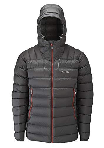 RAB M Electron Jacket Grau, Herren Daunen Isolationsjacke, Größe M - Farbe Graphene - Zinc