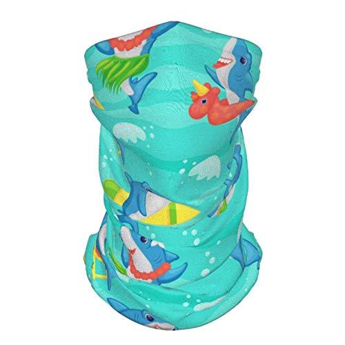 Scaldacollo scaldacollo sciarpa bocca bandane divertente carino squalo cartone animato spiaggia passamontagna sciarpa 2 pezzi