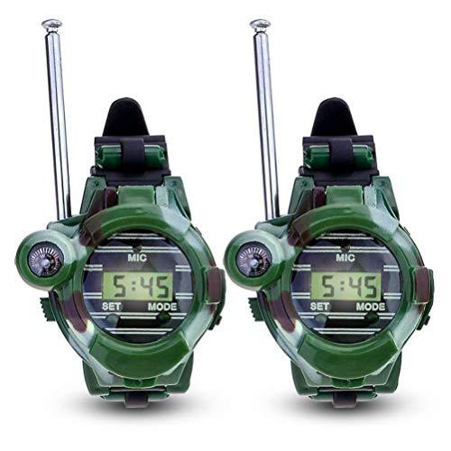 Toyvian 1 para Walkie Talkie Uhr Interaktives Spielzeug Im Freien Digitale Armbanduhr Radio Transceiver Sprech Spielzeug Walky Talky für Kinder Kinder