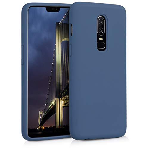 kwmobile Hülle kompatibel mit OnePlus 6 - Handyhülle gummiert - Handy Hülle in Marineblau