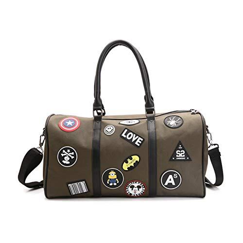 TENGCHUANGSM Bonita moda moda Crossbody bolsa de viaje personalizada graffiti insignia Oxford bolsa de deportes impermeable equipaje yoga