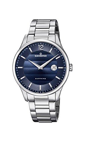 Candino Herren Datum klassisch Quarz Uhr mit Edelstahl Armband C4637/3
