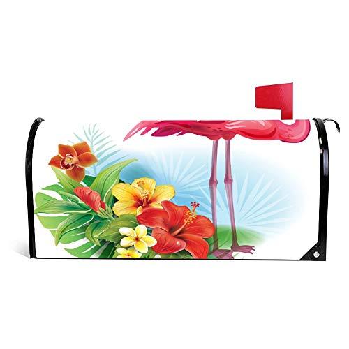 Wendana Regeling Van Tropische Bloemen En Flamingo Postbus Cover Magnetische Vinyl Thuis Tuin Decor Postbus Wrap Post Brievenbus Cover 18