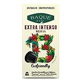 Cafés Baqué - Extra Intenso Cápsulas Compostables Compatibles con Nespresso® (120 cápsulas)