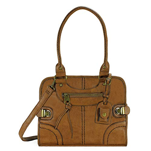 Scarleton Large Satchel Bag for Women, Purses for Women, Handbag for Women, Shoulder Bag for Women, H106804 - Brown