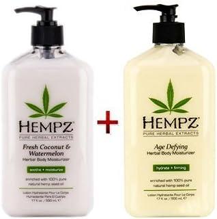 Hempz Herbal Body Moisturizer Fresh Coconut & Watermelon 17oz. And Age Defying Herbal Body Moisturizer 17 fl oz