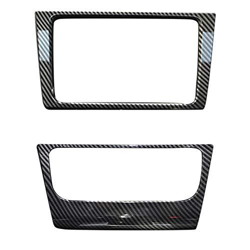 SHENYUAN-Accessories & Parts Marco 3pcs Car Center Console Salida de Aire Radio A/C Panel de Control de Ajuste de la Cubierta del ABS de moldeo for VW Golf GTI 6 MK6 personlise