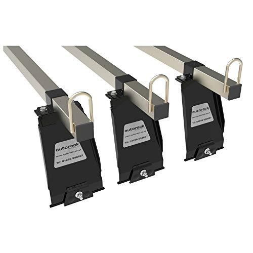 LANDROVER DEFENDER 90 & 110 barras de techo – 3 barras – Autorack MegaBars Heavy Duty