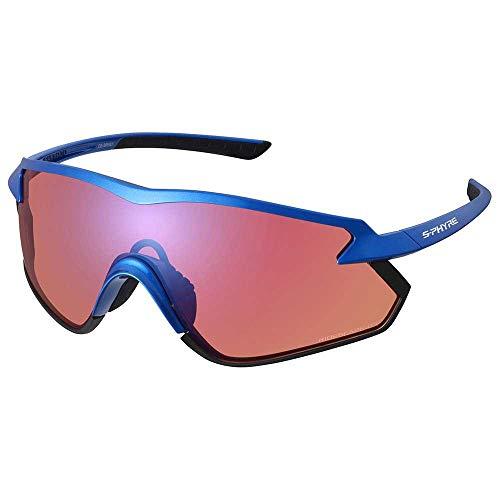 SHIMANO Gafas Off-Road Y21, Adultos Unisex, Blue w/Ridescape (Multicolor), Talla Única