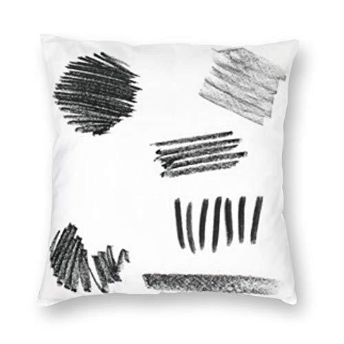 BONRI Set Pastels Pastel Strokes Creativity Square Pillow 16 'X16 Funda de Almohada Cuadrada decoración, Descanso cómodo y Relajante, compañía cálida