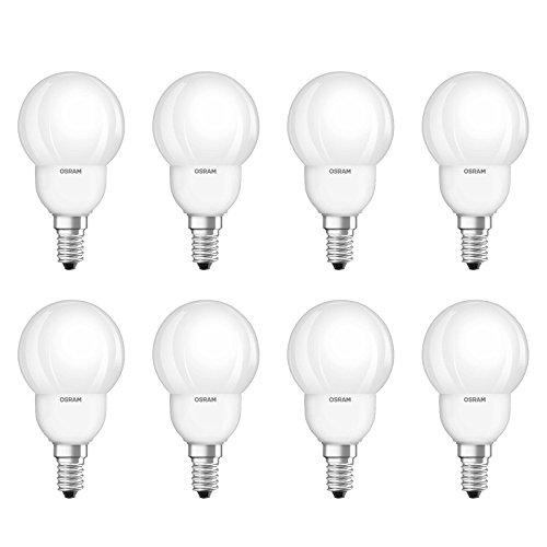 8 x Osram spaarlamp druppels Superstar 9W E14 mat warm wit 2700K