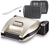 Lagrange Premium Champagne Two sets of waffle plates and croque monsieur with toaster,