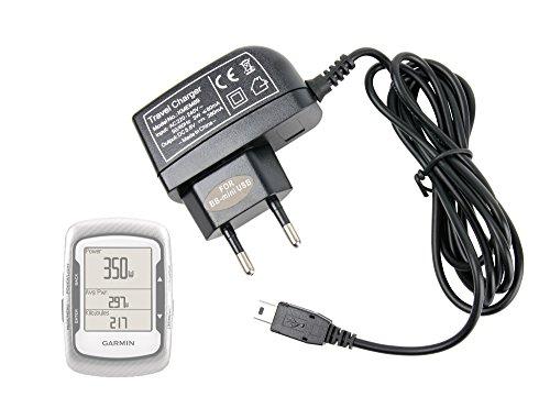 DURAGADGET Chargeur Secteur Filaire pour GPS Garmin Edge 500, 510 & Edge Touring Plus Compteur de vélo connecté - Port Mini USB