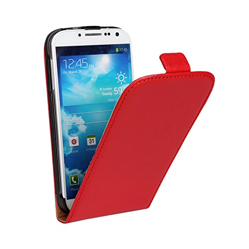 Eximmobile Funda con tapa para Samsung Galaxy Trend Plus, color rojo