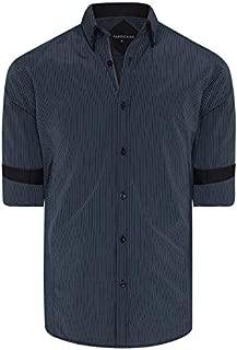 Tarocash Men's Ortiz Stripe Shirt Regular Fit Long Sleeve Sizes XS-5XL for Going Out Smart Occasionwear