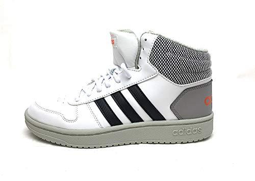 adidas Hoops Mid 2.0 K, Zapatos de Baloncesto Unisex Niños, Multicolor Ftwbla Negbás Placen 000, 36 EU