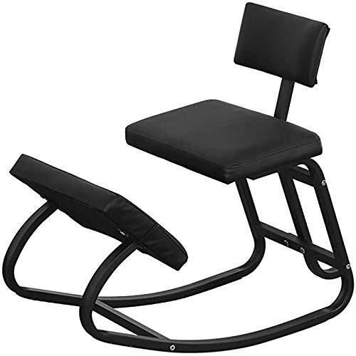 De juiste zithouding knielende stoel Ergonomische Knielen Kruk Posture Orthopedische Backs Ease Neck Spine Schouders Pain voor Office Furniture Footrest,Black