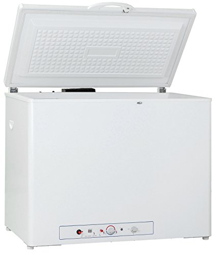 Smad 7 Cu.ft Propane Freezer 2-Way 110 volts & LP Gas Chest Freezer for Indoor & Outdoor Automotive Off Grid Hunting & Fishing, White