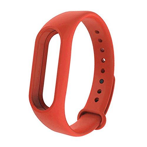 Pulseira de substituição Ajeerd Soft TPE + TPU para Xiaomi Mi Band 2, pulseira de relógio esportiva de silicone unissex para Mi Band 2
