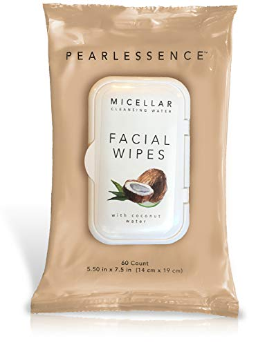 Micellar Cleansing Facial Makeup Remover Wipes w/ Coconut Water, 60...