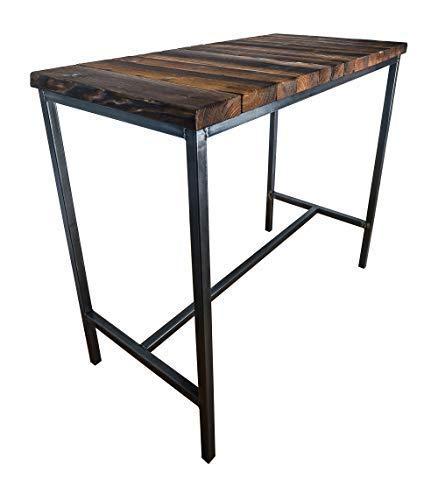CHYRKA® Bartisch Stehtisch Barhocker Barstuhl BarMöbel SAMBOR Loft Vintage Bar Industrie Design Handmade Holz Metall (Tisch 120x60)