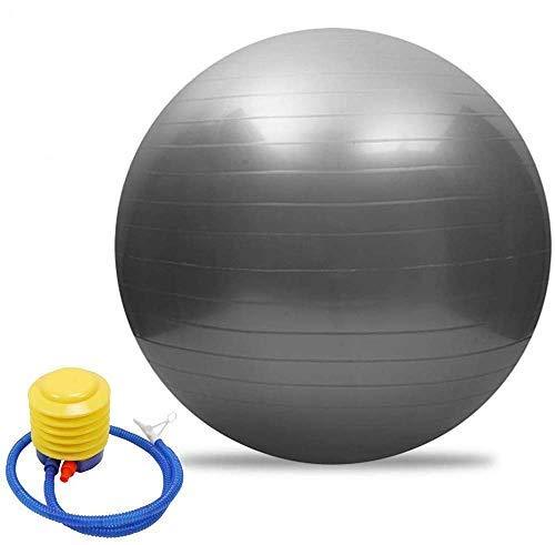 Dyfree Birthing Ball 65cm Anti Burst ,Exercise Ball 85cm/55cm/65cm/75cm with Pump,Anti-Burst & Anti-Slip Gym Ball,Yoga Ball Balance Ball for Fitness Pilates (Silver, 85cm)