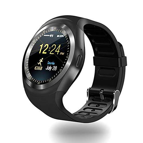 CQ Bluetooth Y1 Smartwatch Android Smartwatch Telefon Anruf GSM SIM Fernbedienung Kamera Information Display Sport Schrittzähler 53252, Schwarz