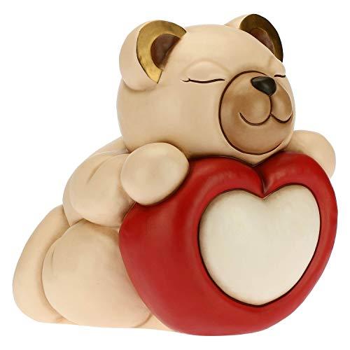 THUN - Soprammobile Tina con Cuore - Idea Regalo Giorno degli Innamorati - Accessori per la Casa - Linea Tell Me Your Love - Formato Grande - Ceramica - 30,6 x2 6,7 x 30 h cm