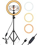 Stand :- Extendable from 12.0 inches to 51.0 inches, just lock it at desired length for your preferred use, you can stand it on the floor or just put onto your table for your convenience. ( The tripod stand itself can be used as a selfie stick and ph...