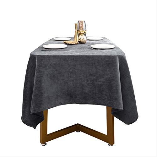 Mantel De Chenilla Gris Impermeable Acolchado Fiesta En Casa Decoración De Restaurante Occidental 140*200cm
