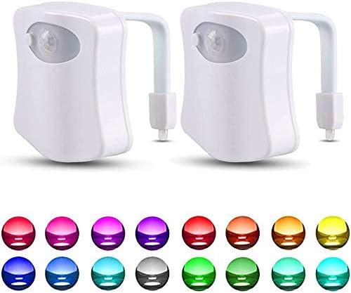 2 Pack 16 Color Changing Toliet Night Light Motion Sensor LED Multi Color Toilet Light Toilet product image