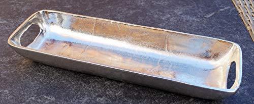 MichaelNoll Schale Servierplatte Dekoschale Aluminium Silber M 40 cm