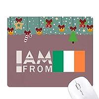 アイルランド出身です ゲーム用スライドゴムのマウスパッドクリスマス