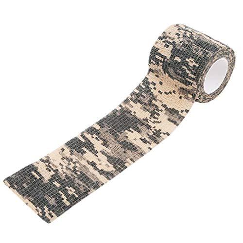 L_shop Outdoor Camouflage Pattern Tape Hochflexibles ultraleichtes einziehbares Klebeband,ACU-Tarnung