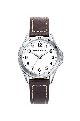 Viceroy Jungen Analog Quarz Uhr mit Leder Armband 40449-14