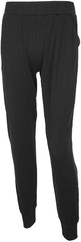 Women's Pants Women Zipper Slit Side Solid color Loose Lounge Long Pants Punk Cargo Cropped Jogger Harem Pants Casual Slacks Jogging Sweatpants Trousers Black Trackpants (color   Black, Size   L)