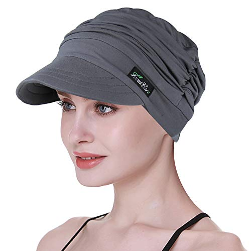 FocusCare Zeitungsjunge Kappe für Chemo Frauen Soft Bucket Cap Light Weight Cancer Beanie Cap