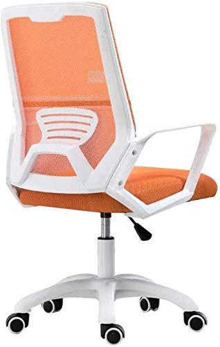 Silla de Oficina Sillas de Oficina Medio Espalda giratoria de Soporte Lumbar, Silla de Malla ergonómica de computadora con reposabrazos (Color : Orange)
