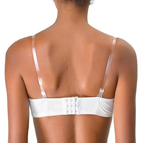 Allegra K Dames 3 Paires 1.8cm Largeur Transparent Réglable Invisible Bretelles Soutien-gorge - Transparent, Femme, Taille Unique