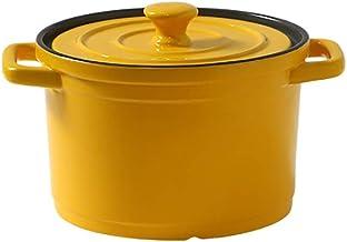 Saucepan Ceramics Kitchen Pot Induction Stockpot Small Sauce for Home Kitchen Pasta Pot Milk Pan (Color : Yellow)
