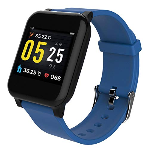 N\C Body Temperature Monitoring Watch SW06 Smart Metronome Weather Forecast Phone Reminder Silicone Bracelet