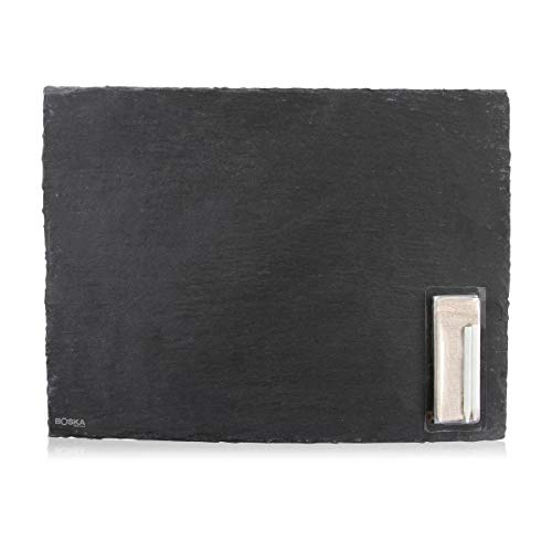 BOSKA 359011 Planche à Fromage Cheesy Taille XL, Pierre, Noir, 30 x 20 x 2 cm