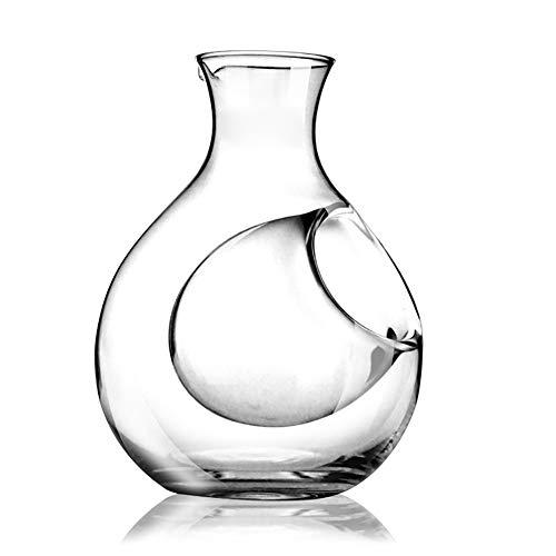 LINJJ Bleifreien Kristallglaskanne De Wasserabscheider Getrennte Kräuseln Japanischen Sake Jug Haushaltswassertank